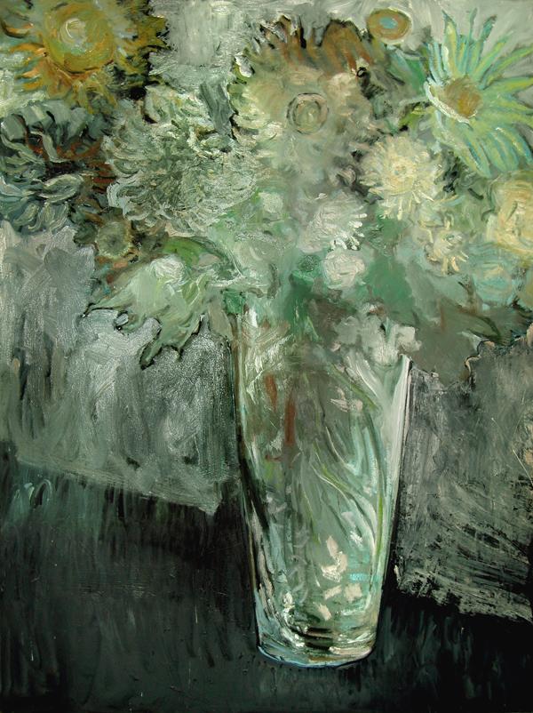 Flowers in Mercury Glass Vase - Jimmy Wright Artist